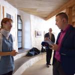 Barbora Skopalíková s moderátorem ČT při přípravě rozhovoru