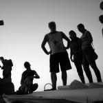 Další téma workshopu byla místní náboženská pout. Fotografie z vernisáže fotografií Jindřicha Štreita na poutním místě Křížový vrch
