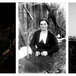 Večerní projekce starých fotografií  v Křížově u Sovince. V místě, kde tvořil dosud neznámý německý fotograf do roku 1945 a od 60tých let minulého století také Jindřich Štreit